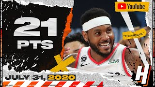 Carmelo Anthony is TOO CLUTCH! 21 Points Full Highlights vs Grizzlies | July 31, 2020