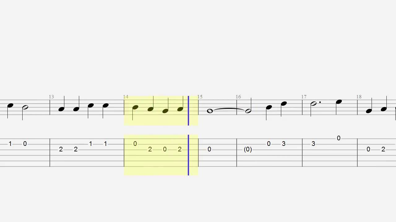 Guitar Tab Notes Nowhere Man Easy Guitar Grade One Youtube