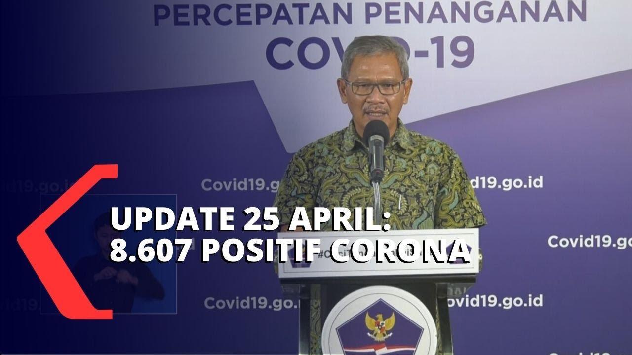 Update Corona 25 April: 8.607 Positif, 1.042 Sembuh, 720 Meninggal Dunia