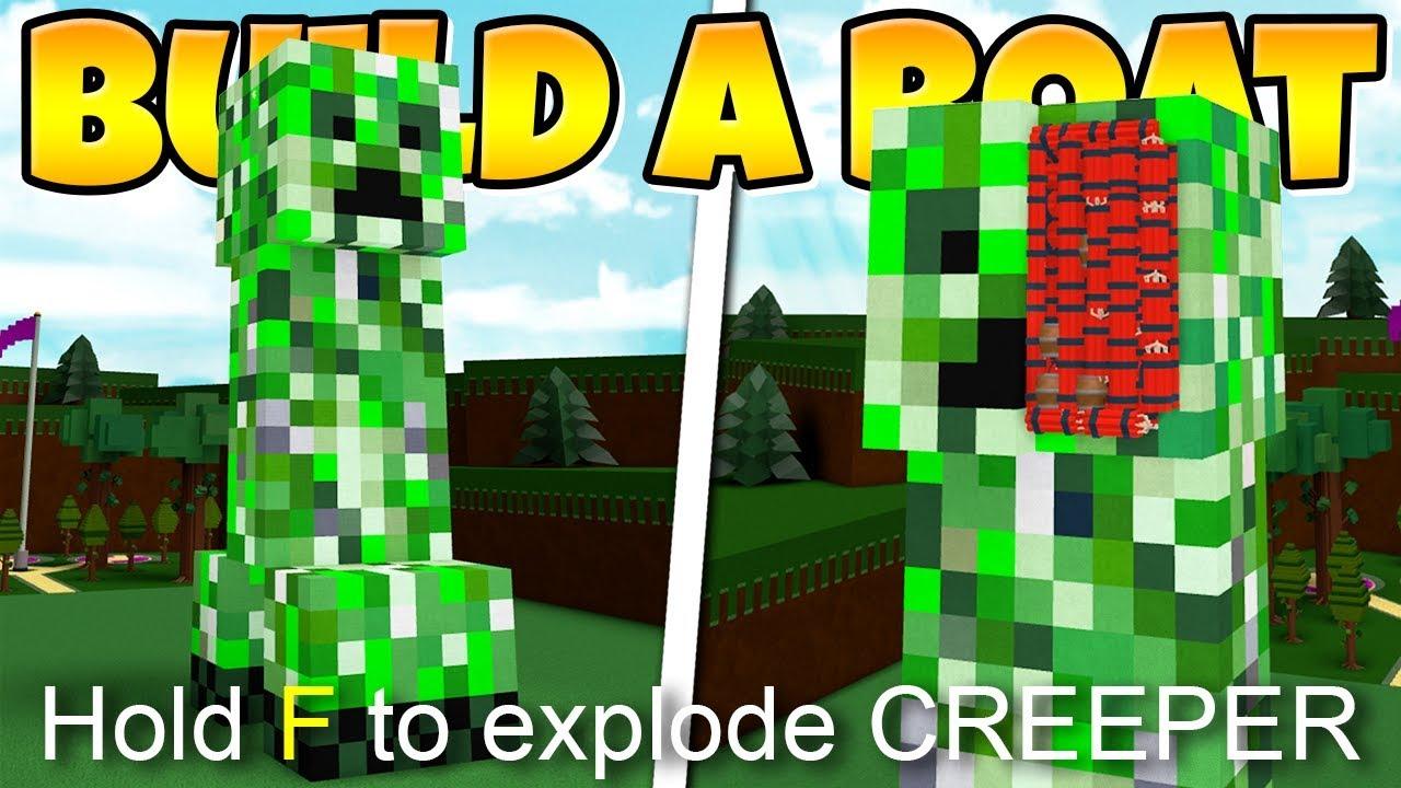 Build A Boat Massive Creeper 1000 Tnt Youtube