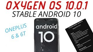 Official Stable Ota Oxygen OS 10.0.1 (Android 10) for Oneplus 6 & 6T