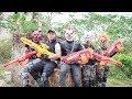 Special Police Swat Warriors Use Skills Nerf Mod Fight Crime Group Mask Tiger Man Nerf War 2