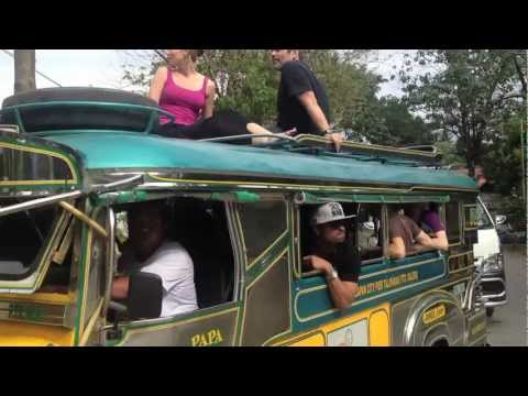 Joss Stone riding high on a bus in Mindoro Island, Philippines