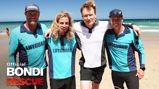 Conan O'Brien learns how to be a Bondi Lifeguard!