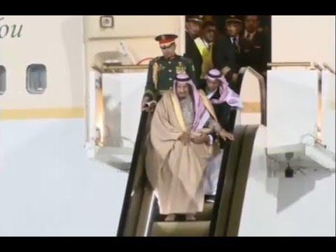 FAIL OR RUSSIAN HACKING? Saudi King's Gold Escalator Brake Down At Moscow Airport