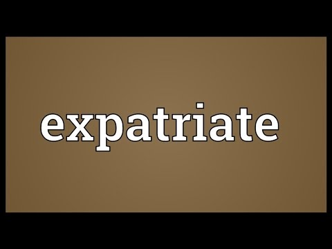Expatriate Meaning