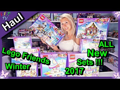 All New Lego Friends Winter Sets 2017 Amazing Shopping Haul