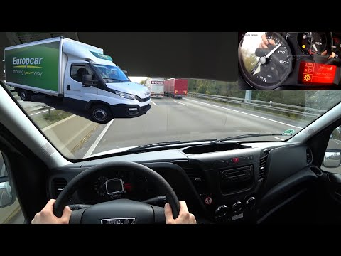 2018 Iveco Daily 35-160 POV DRIVE | Top Speed German Autobahn - How Fast Is A 3.5 Tons Van?