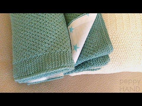 Как связать детское одеяло спицами схемы описание