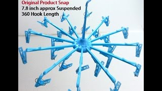 24 Foldable Clip Hanger - Ranked No.3 in Wall Hooks Home & Kitchen Amazon - Unboxing Hindi