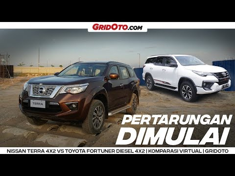 Nissan Terra VL 4x2 VS Toyota Fortuner VRZ 4x2 TRD Sportivo | Komparasi Virtual | GridOto