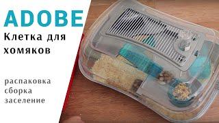 Джунгарский хомяк клетка ABODE распаковка и сборка.