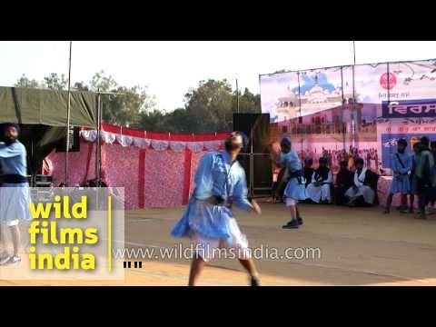 Nihangs perform Gatka, an ancient form of Sikh martial art - Punjab