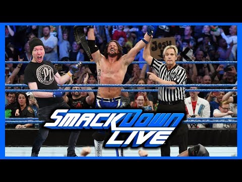 EPIC REACTION! AJ STYLES WINS WWE TITLE IN UK!