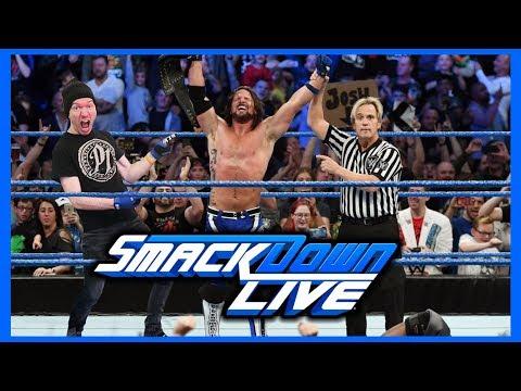 EPIC REACTION! AJ STYLES WINS WWE TITLE IN UK!