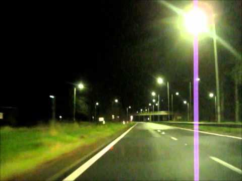 Night Driving Birmingham - London A45 / M1 / A406, UK, England