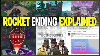 *NEW* Fortnite: LEAKED ROCKET FAILS AND CRASHES INTO MOISTY MIRE! | (Season 4 Ending Explained)