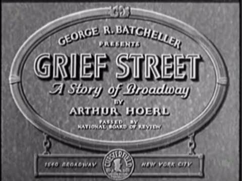 """Grief Street"" (1931) Barbara Kent, John Holland, Dorothy Christy, Lafe McKee"