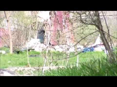Tent City in wooster eviction day