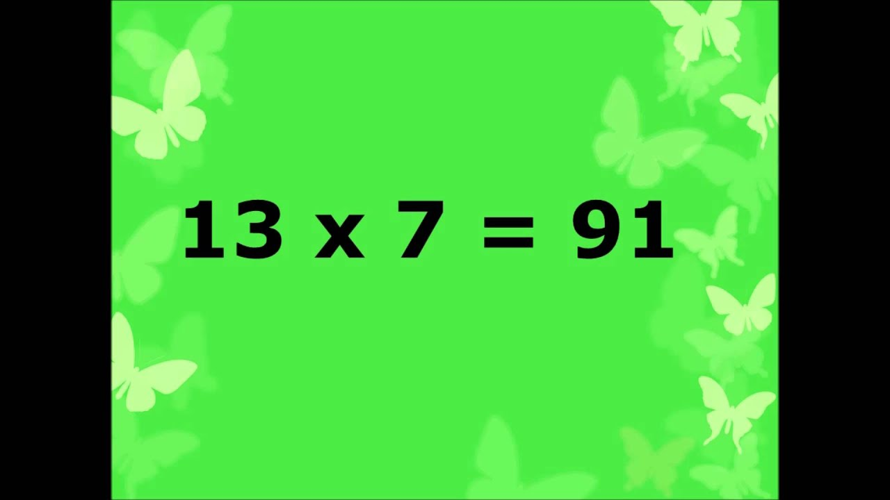 Multiplication table of number 13 or learn 13 table or 13 table in multiplication table of number 13 or learn 13 table or 13 table in easy way for kids gamestrikefo Choice Image