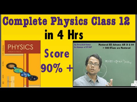 Class 12 CBSE/Other Board Complete Physics(NCERT Book 1)Devashish Sir(IIT Alumnus) EINSTEIN CLASSES