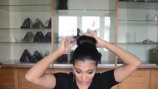 Sock Bun Hair Tutorial (Jennifer Lopez Style) Thumbnail