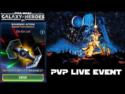 Star Wars Galaxy Of Heroes Boarding Action PVP LIVE Event!