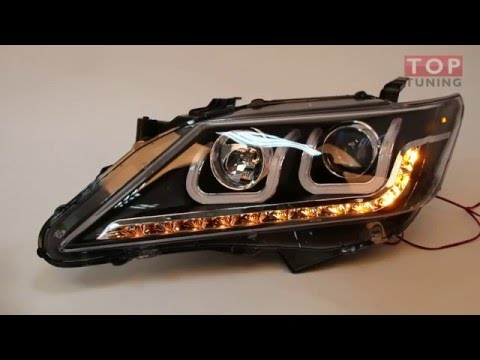 Cмотреть Передние фары светодиодные - Тип 2, тюнинг Тойота Камри v50.
