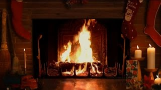 Cozy Christmas Fireplace with Crackling Fire Sounds HD