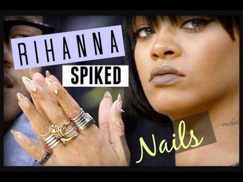Diy Spike Nails Rihanna Spiked Nail Art