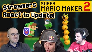 Super Mario Maker 2 Twitch Streamers React to NEW VER. 2.0 Update!