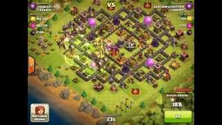 Clash of Clans funny attack - 5 jump spells for Hog rider & Loons