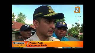 Zola Tinjau Pembangunan Jalan Senyerang - Sungai Rumbai - Tebing Tinggi