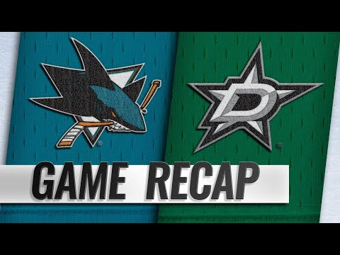 Shore's second goal lifts Stars past Sharks, 4-3