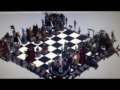 LDD gameplay 852293 Castle Giant Chess Set -  base on Aanchir's LXF