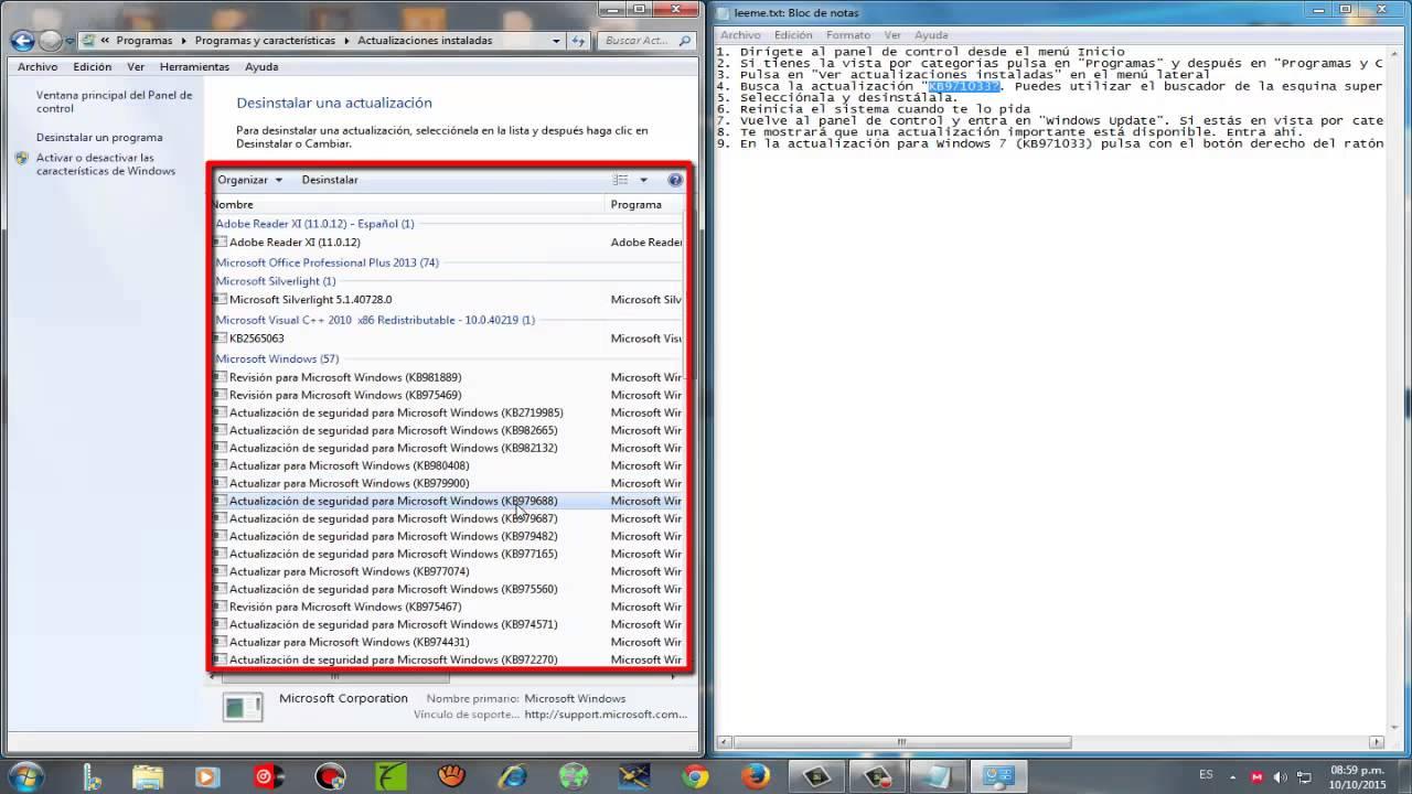 solucion para compilacion 7601