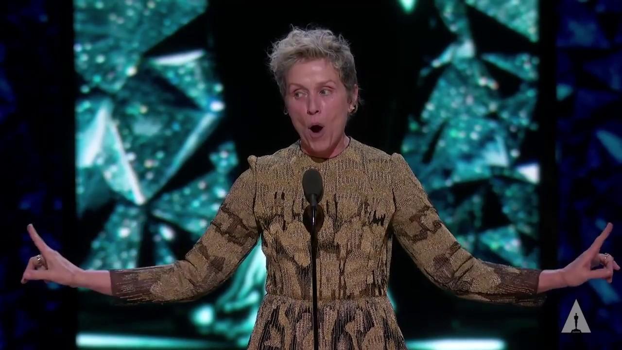 Frances McDormand wins Best Actress - YouTube