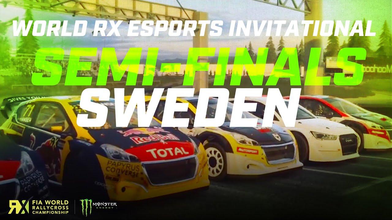 World RX Esports Series Sweden SEMI-FINALS | FIA World Rallycross