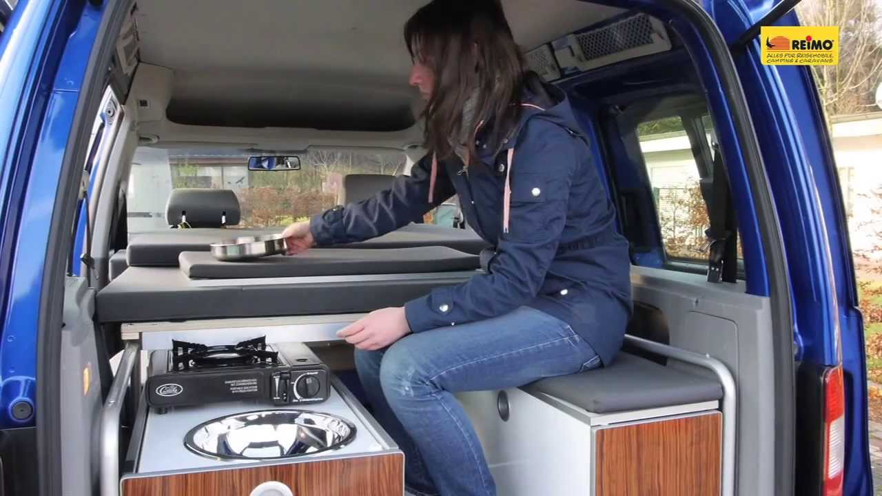 minicamper reimo active auf vw caddy youtube. Black Bedroom Furniture Sets. Home Design Ideas