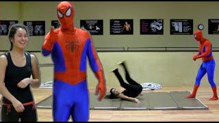 Self-Defense for Kids with SPIDER-MAN | episode 17 (Backwards Roll)