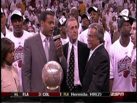 June 02, 2006 - ABC - Miami Heat 2006 Eastern Conference Championship Trophy Presentation