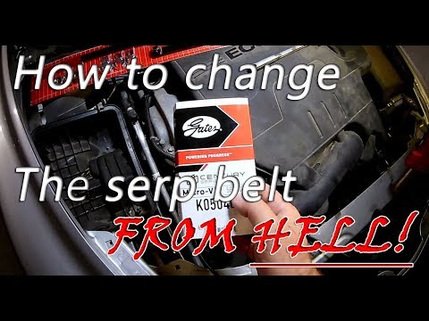 How to change a serpentine belt My nightmare 2011 Malibu EcoTech