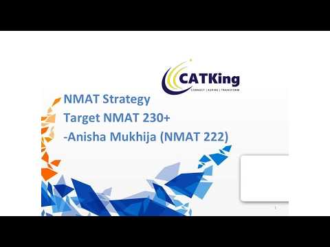 NMAT D-Day Strategies to Score 230 + by NMAT Topper