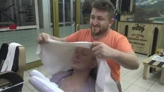 ASMR TURKISH BARBER MASSAGE NECK CRACK razor beard shave SKIN CARE AND SLEEP MASSAGE nose ear wax