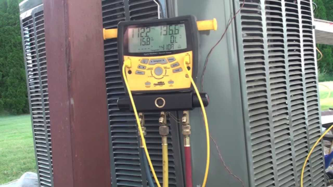 recovery evacuation and pump down gray cooling man air conditioning repair advice [ 1280 x 720 Pixel ]