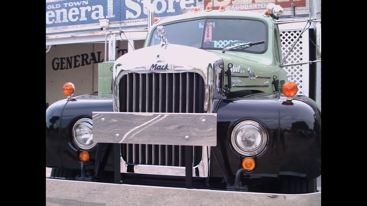 1950 To 1965 Mack Trucks : S mack truck b grnblk ot youtube
