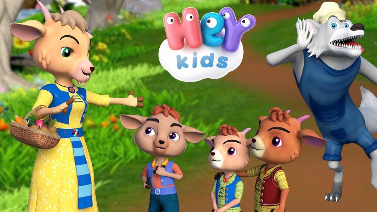 Capra Cu Trei Iezi ? Povesti pentru copii | HeyKids - Desene animate