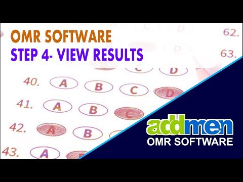 OMR Checking Software Operation STEP 4 View Results Part 6 Video