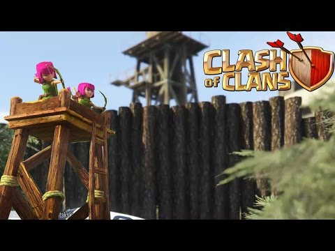 CLASH OF CLANS BASE IN GTA V | Jumping From High Places