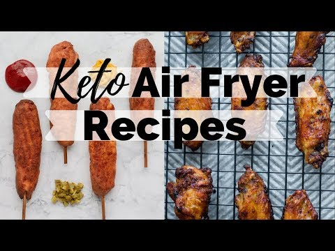 KETO AIR FRYER RECIPES   How to make wings in the air fryer   Air Fryer Keto CornDogs
